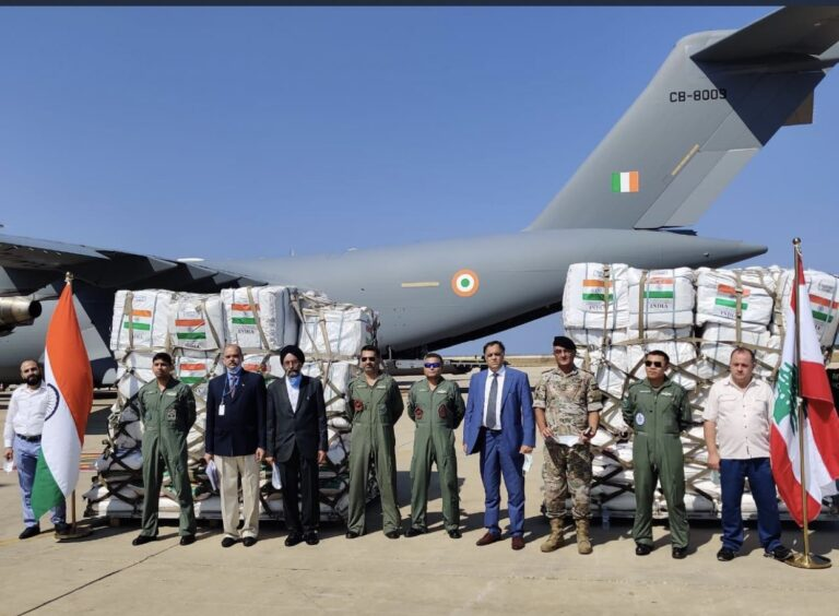 Beirut blasts: India Sends 58 Tons Of Emergency Help To Lebanon