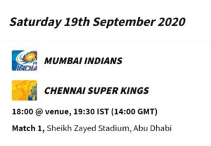 IPL 2020 Schedule Announced, Mumbai Indians And Chennai Super Kings Clash First