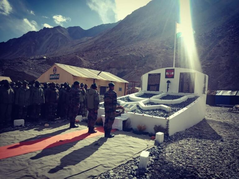 A Memorial Has Been Built By Indian Army For The 20 Indian Soldiers Who Lost Their Lives In Action Against The Chinese Army In Galwan Valley
