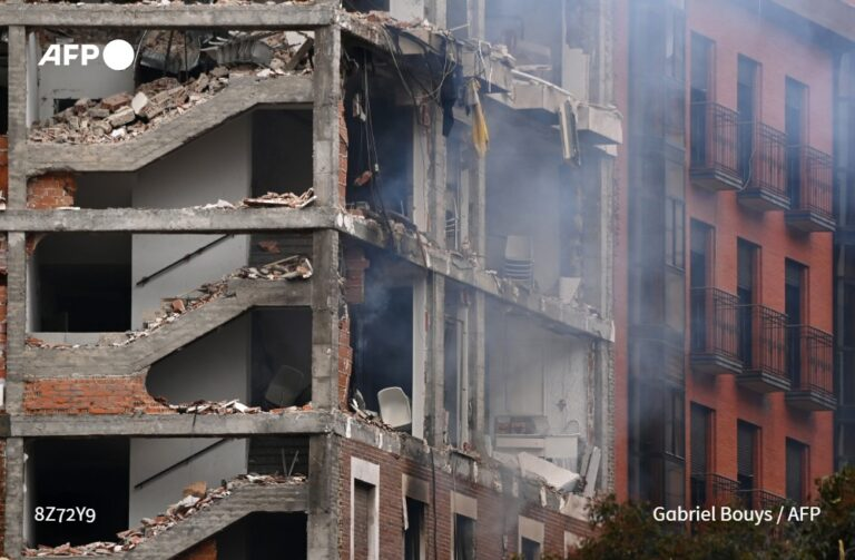 Four People Killed When A Gas Leak Explodes At A Building In Madrid, Spain