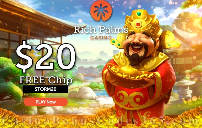 Rich Palms Casino Review – Get Up to $8250 No Deposit Welcome Bonus!