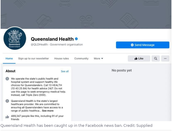Australia: Facebook Won't See Country's Health Department Ad, Broken Relationship