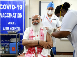 PM Narendra Modi Takes First Dose Of Coronavirus Vaccine