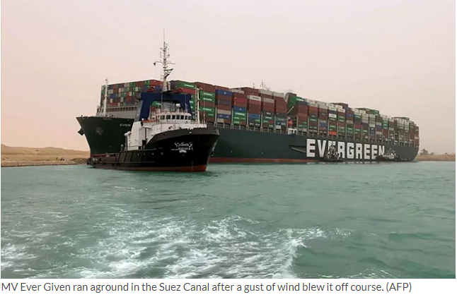 Huge Ship Still Trapped In Suez Canal, 25 Indian Drivers Trying To Evacuate