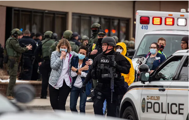 Firing In U.S. Supermarkets,  10 People Including Police Officer Killed