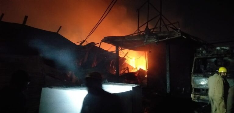Fire Breaks Out In Shastri Park Furniture Market, Several Shops Burnt Down, 8 Rescued