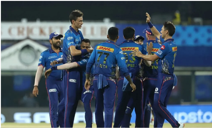 IPl 2021 :- Mumbai Indians Beat Kolkata Knight Riders In A Last Ball Thriller