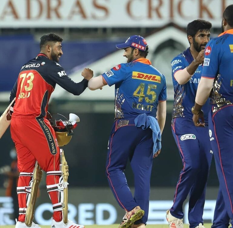 Vivo IPL 2021 :- RCB Beats MI By 2 Wickets In A Last-Ball Thriller!