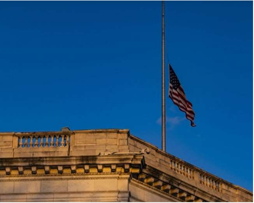 White House Flag Bowed After Policeman Killed in Capitol Hill Violence, Biden Expresses Grief