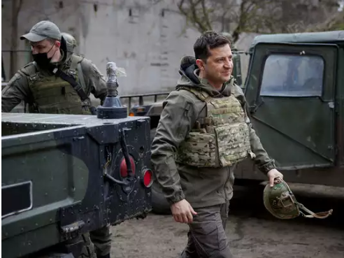 Ukraine's President Arrives At Border Wearing Army Uniform, Threatens War With Russia
