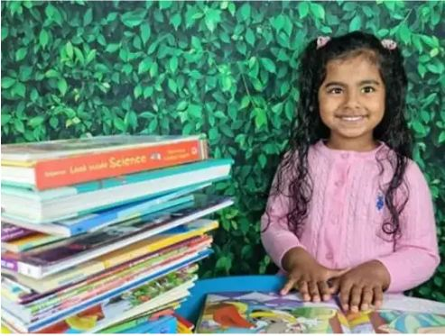 Indian Girl Made A World Record In UAE By Reading 36 Books In Just Two Hours