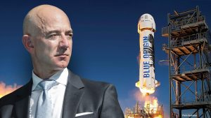 Rocket trip to space with Jeff Bezos sells at auction for $28 million