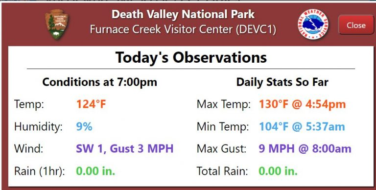 Death Valley, California Reached 130 Degrees On Friday, Just Shy Of The Hottest Temperature Ever Recorded On Earth
