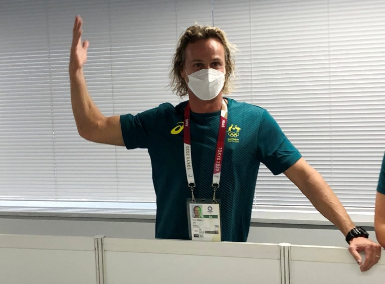 Swimming-Ecstatic Aussie coach goes viral with medal-worthy celebrations