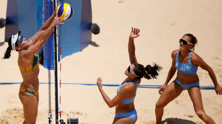 Beach Volleyball-Brazil Do Double Over Argentina, Swiss Women On Top