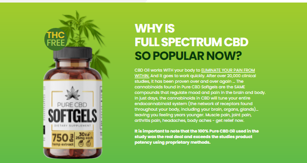 Pure CBD Softgels Reviews :- Reduce Pain And Chronic Aches!