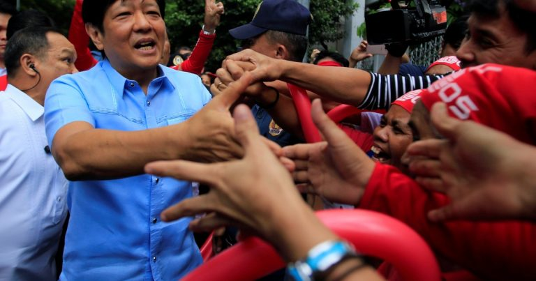Son of late Philippines dictator Marcos to run for president