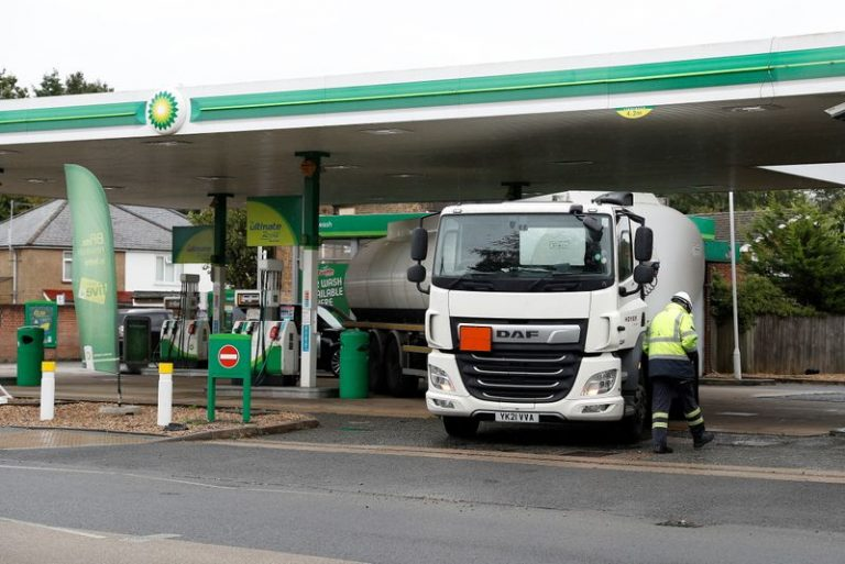 British military deliver fuel in gas station crisis